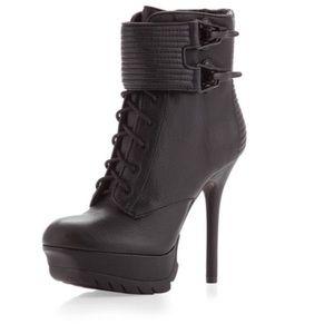 Sam Edelman 9M Black Vixen Platform Heel Booties